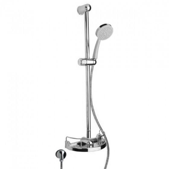 "Latoscana Water Harmony 30"" slide bar kit in a Chrome finish"