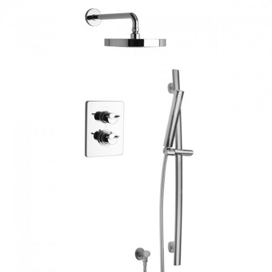 Latoscana Morgana Thermostatic Valve With 2 Way Diverter In Chrome bathtub and showerhead faucet systems Latoscana