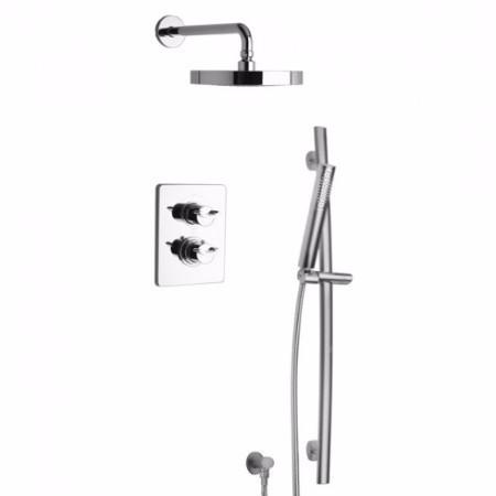 Latoscana Morgana Thermostatic Valve With 2 Way Diverter In Brushed Nickel Finish bathtub and showerhead faucet systems Latoscana