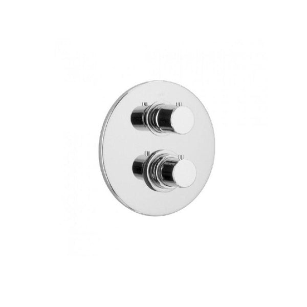 Latoscana Elba thermostatic valve with 3/4 ceramic disk volume control in a Chrome finish