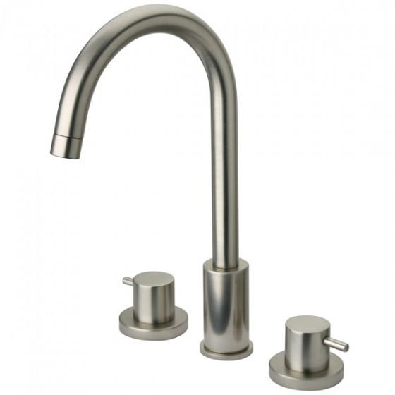 Latoscana Elba Widespread Lavatory Faucet In A Brushed Nickel Finish touch on bathroom sink faucets Latoscana