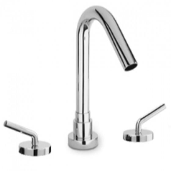 Latoscana Morelllino Roman Tub With Lever Handles In A Chrome touch on bathroom sink faucets Latoscana