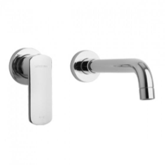 Latoscana Novello Wall Mount Lavatory Faucet In Chrome touch on bathroom sink faucets Latoscana