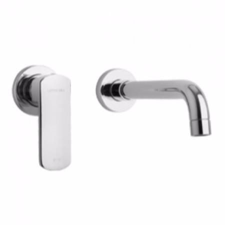 Latoscana Novello Wall Mount Lavatory Faucet In Brushed Nickel touch on bathroom sink faucets Latoscana