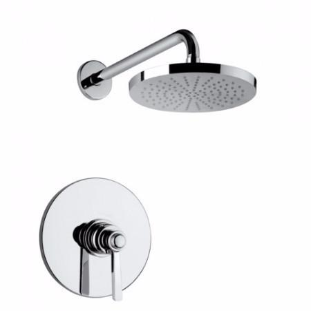 Latoscana Firenze Pressure Balance Valve Shower Set In Brushed Nickel Finish bathtub and showerhead faucet systems Latoscana