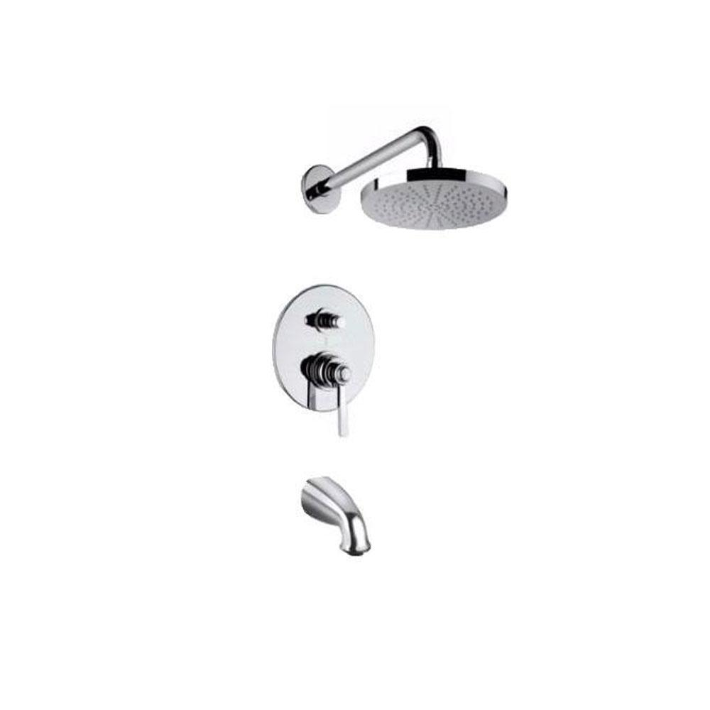 Latoscana Firenze Pressure Balance Valve Tub In Brushed Nickel bathtub and showerhead faucet systems Latoscana