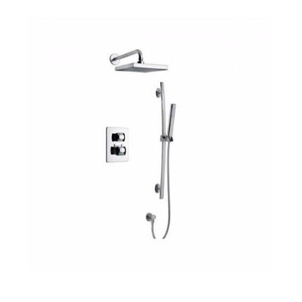 Latoscana Lady Thermostatic Valve With 2 Way Diverter In Brushed Nickel bathtub and showerhead faucet systems Latoscana