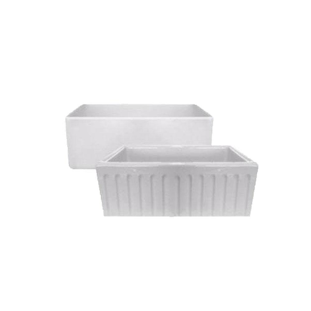 Latoscana LAT/R2418W Kitchen Sink in FIRECLAY Finish Kitchen Sinks Latoscana