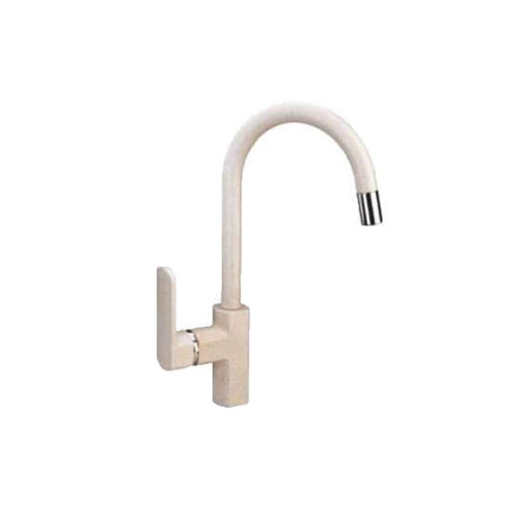 Latoscana Pamix50E Single Handle Pull-Down Bar Kitchen Faucet In Milk White Kitchen faucet Latoscana