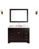 "ARIEL Stafford 49"" Single Sink Bathroom Vanity Set in Espresso"