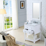 "Madalyn 24"" Solid White Single Sink Bathroom Vanity Only"