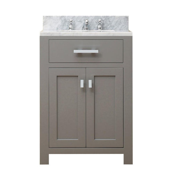 "Madison 24"" Cashmere Grey Single Sink Bathroom Vanity And Faucet"