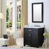 "Madison 30"" Espresso Single Sink Bathroom Vanity With Matching Framed Mirror"
