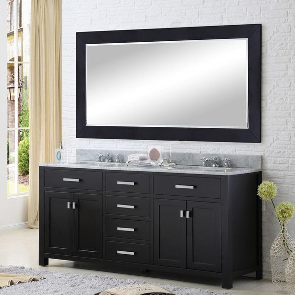 "Madison 72"" Espresso Double Sink Bathroom Vanity Only"