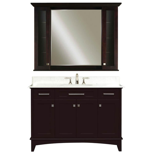 "Manhattan 48"" Dark Espresso Single Sink Vanity And Manhattan Medicine Cabinet"