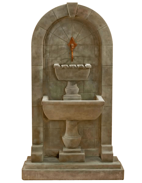 Monterosso Wall Outdoor Cast Stone Garden Fountain For Spout Tuscan Basins