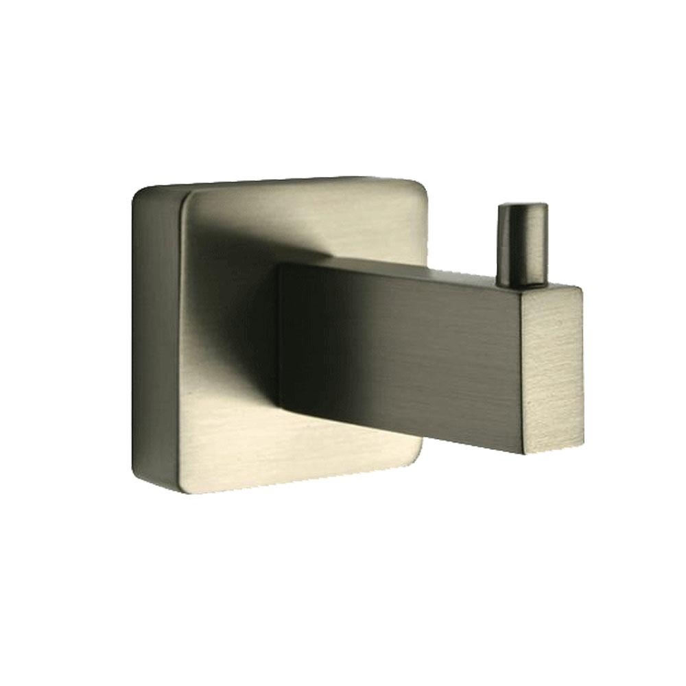Latoscana Square Robe Hook In A Brushed Nickel Finish bath towel hooks Latoscana