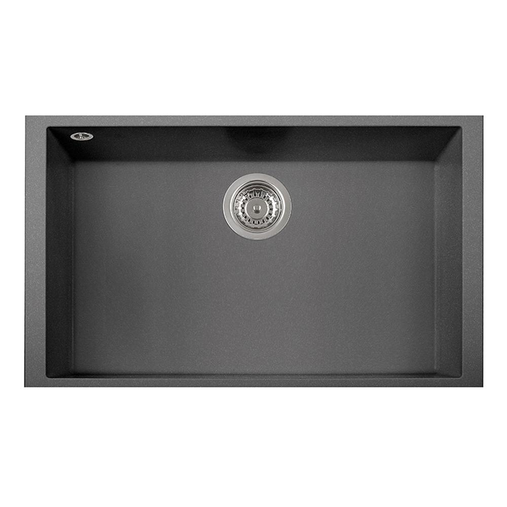 Latoscana Single Basin Undermount Sink ON7610ST Kitchen Sink Latoscana Titanium
