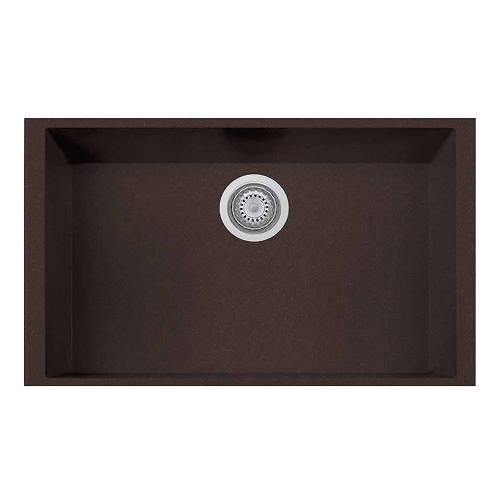 Latoscana Single Basin Undermount Sink ON7610ST Kitchen Sink Latoscana Brown