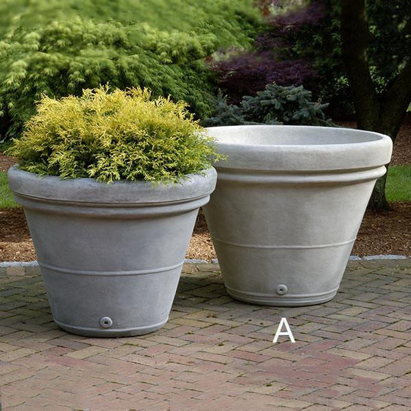 Campania International Cast Stone Estate Rolled Rim Large Planter Urn/Planter Campania International