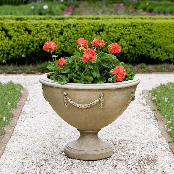Campania International Cast Stone Williamsburg Neoclassic Urn Urn/Planter Campania International