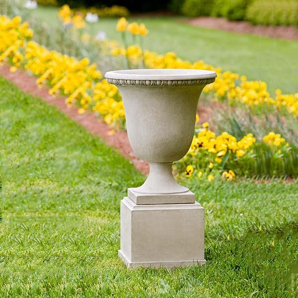 Campania International Cast Stone Williamsburg Egg & Dart Urn Urn/Planter Campania International