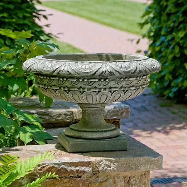 Campania International Cast Stone Longwood Rosette Urn Urn/Planter Campania International
