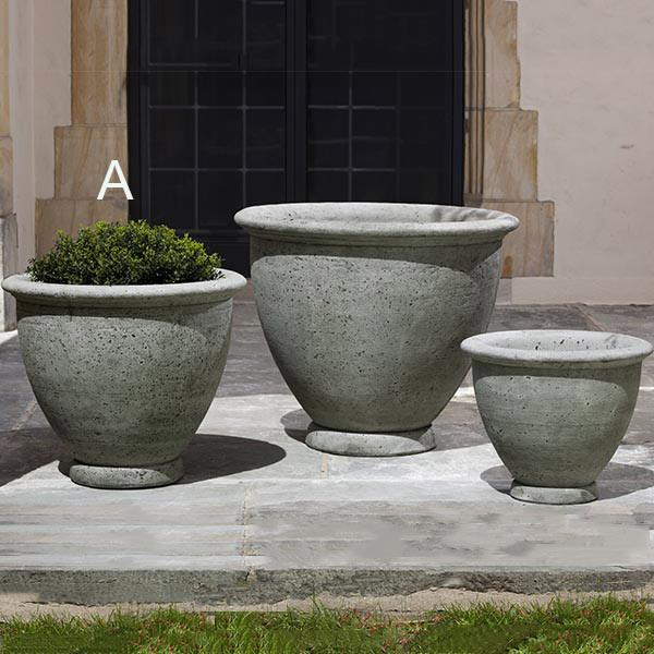 Campania International Cast Stone Berkeley Medium Planter Urn/Planter Campania International