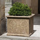 Campania International Cast Stone Arabesque Square Planter