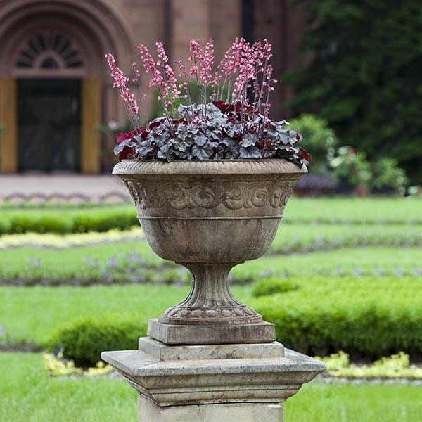 Campania International Cast Stone Smithsonian Foliated Scroll Urn Urn/Planter Campania International