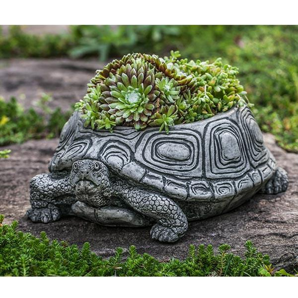 Campania International Cast Stone Turtle Planter, Small Urn/Planter Campania International