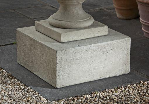 Campania International Cast Stone Textured Low Sq Pedestal Urn/Planter Campania International