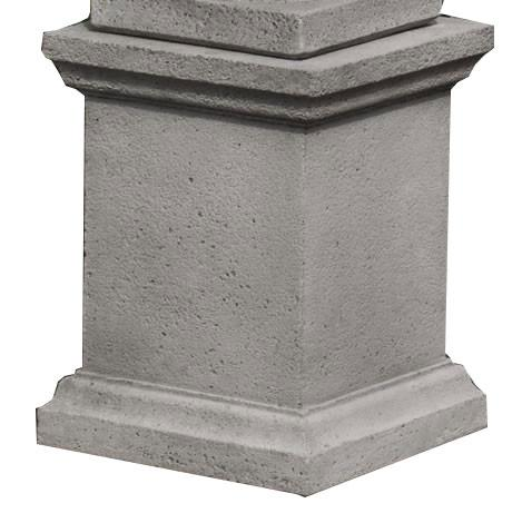 Campania International Cast Stone Low Wolcott Pedestal Urn/Planter Campania International