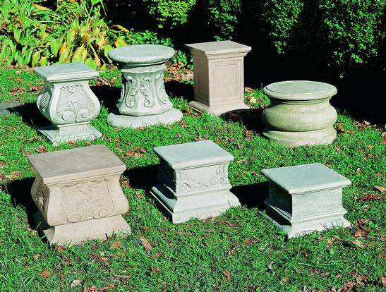 Campania International Cast Stone Plain Quadro Pedestal Urn/Planter Campania International