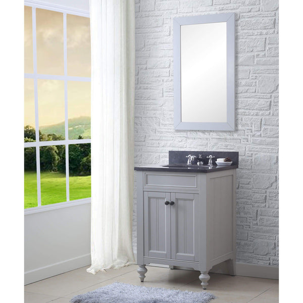 "POTENZA 30"" Earl Grey Single Sink Bathroom Vanity And Faucet"