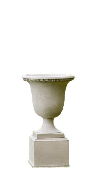 Campania International Cast Stone Wburg Egg & Dart Urn w/ Classic Tall Pedestal Urn/Planter Campania International