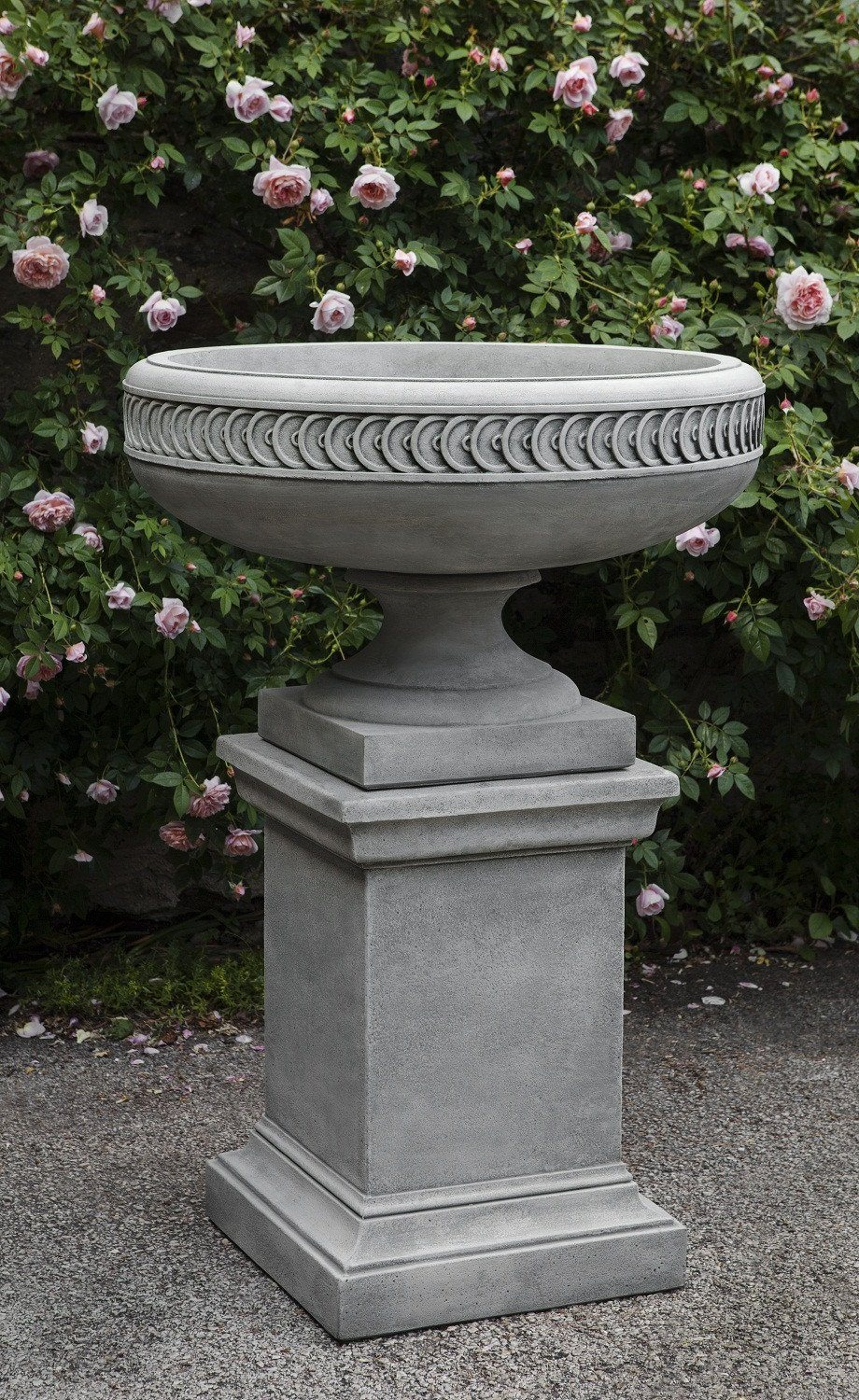 Campania International Cast Stone Chatham Urn w/ Greenwich Pedestal Urn/Planter Campania International