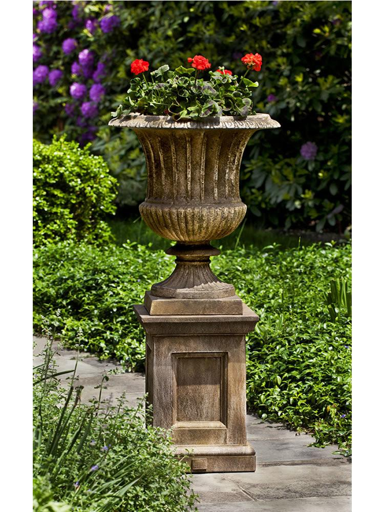 Campania International Cast Stone Smithsonian Classical Urn w/ Barnett Ped Urn/Planter Campania International