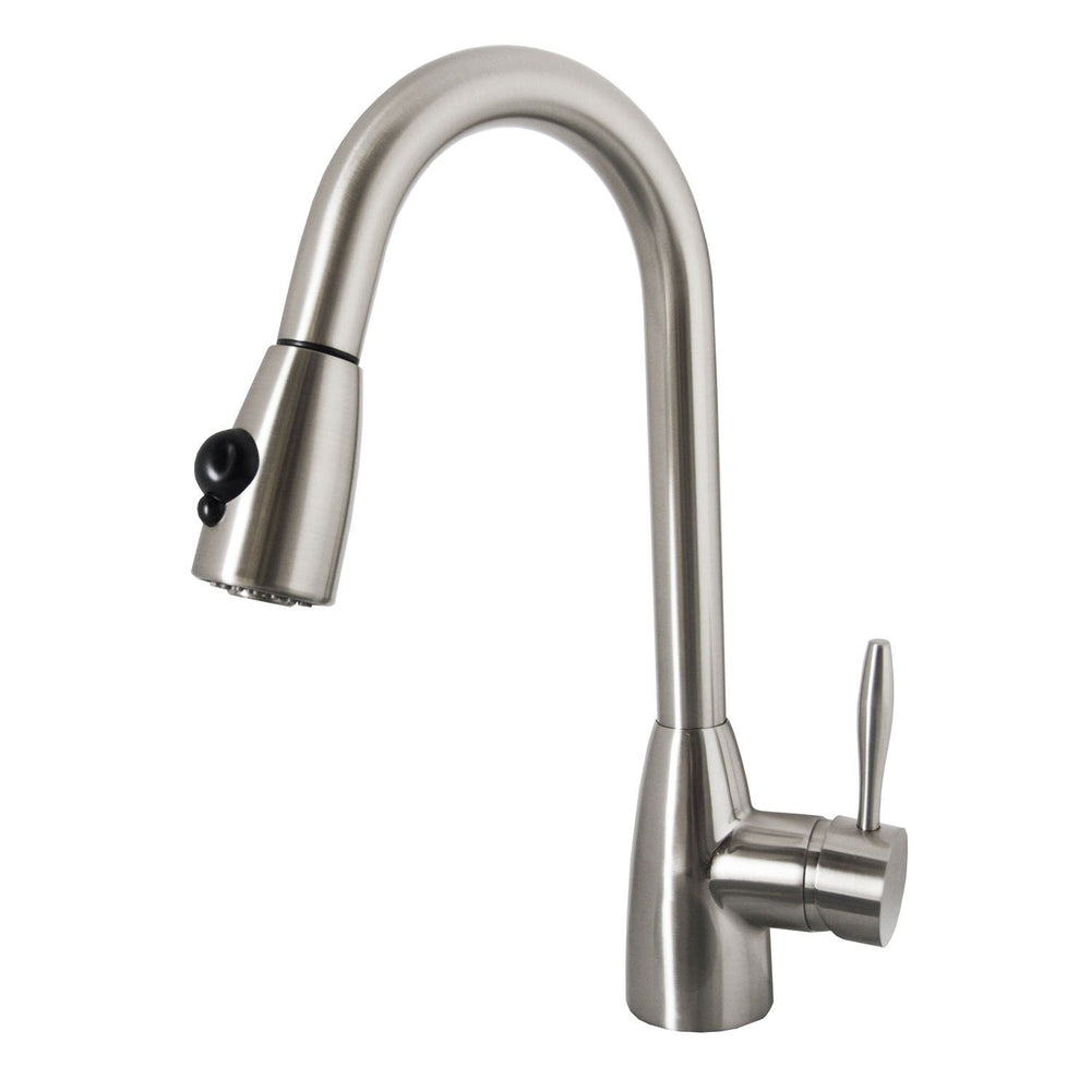 Virtu USA PSK-1001-BN Neptune Brushed Nickel Single Handle Faucet Kitchen Faucet Virtu USA