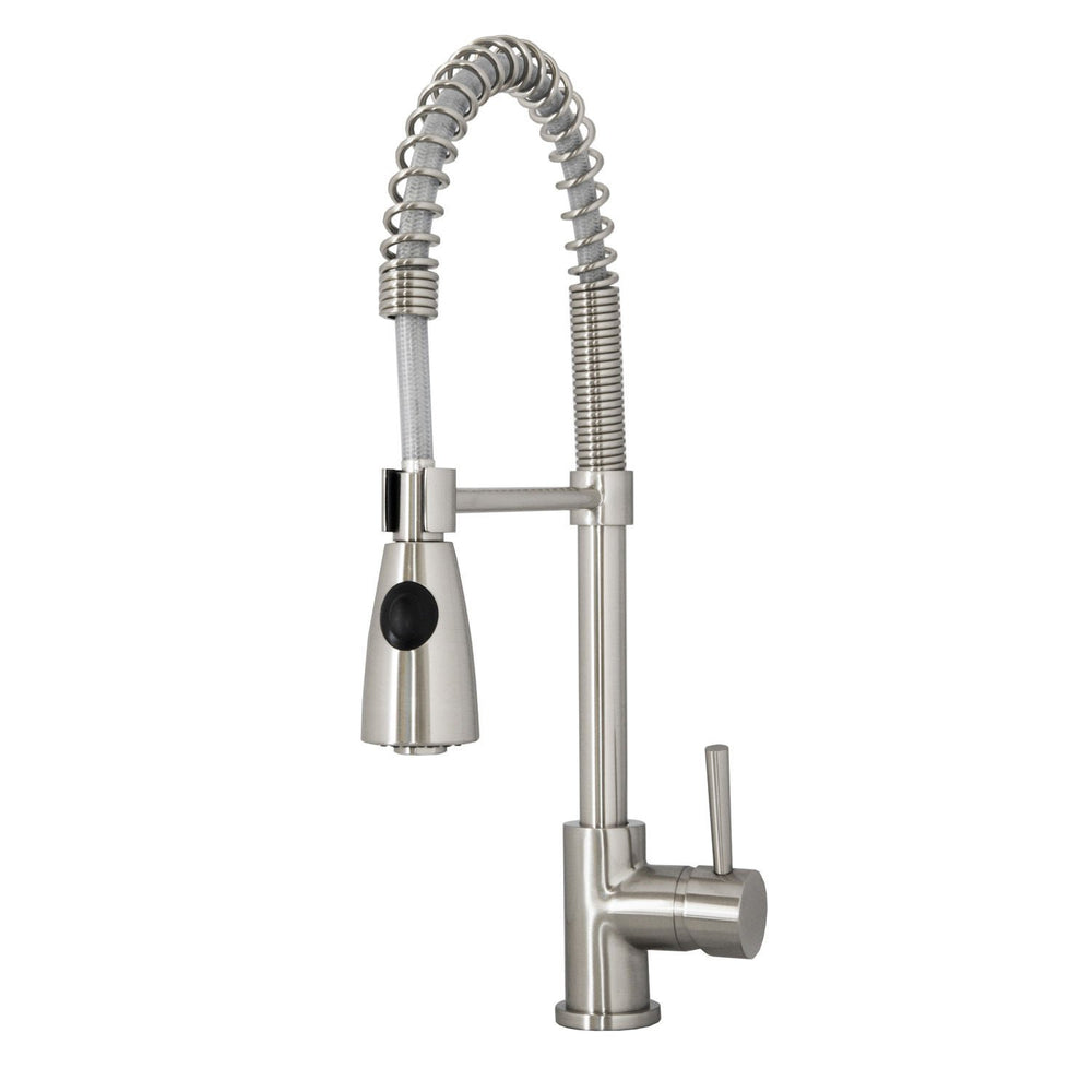 Virtu USA PSK-1005-BN Neso Brushed Nickel Single Handle Faucet Kitchen Faucet Virtu USA