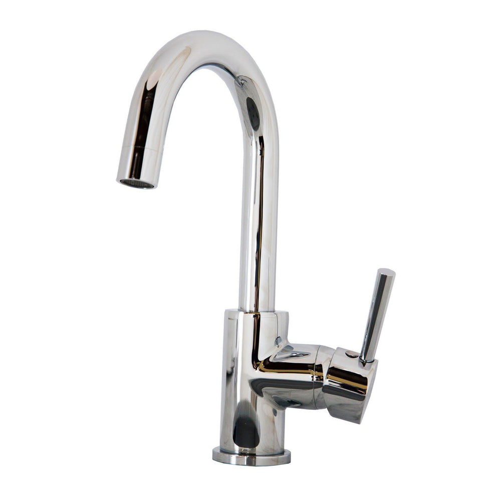 Virtu USA PSK-501-PC Lithios Polished Chrome Single Handle Faucet Kitchen Faucet Virtu USA