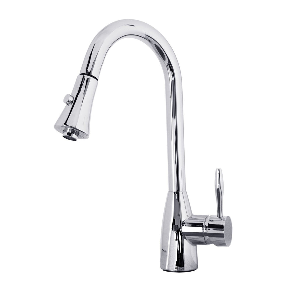 Virtu USA PSK-901-PC Varuna Polished Chrome Single Handle Faucet Kitchen Faucet Virtu USA