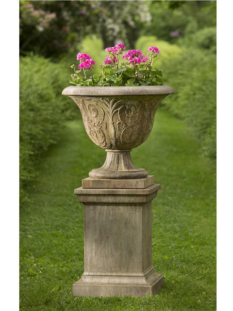 Campania International Cast Stone Palais Arabesque Urn with Pedestal Urn/Planter Campania International