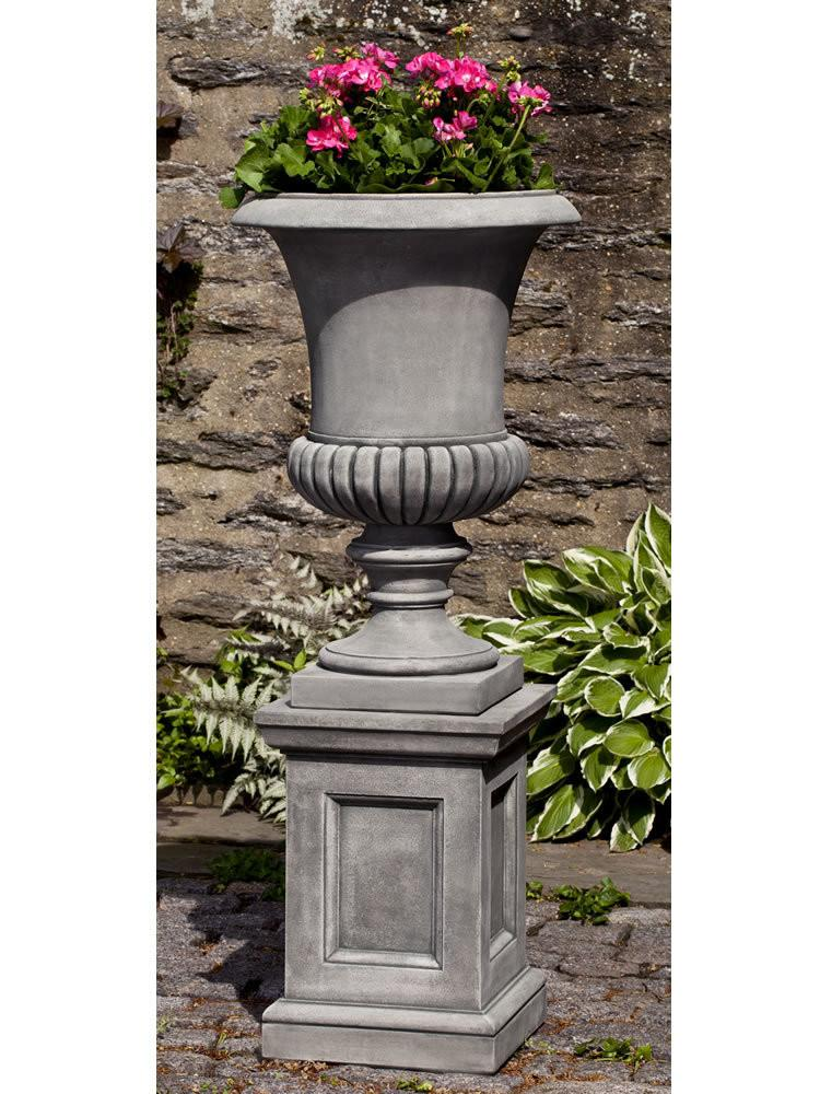 Campania International Cast Stone Kent Urn with Barnett Pedestal Urn/Planter Campania International