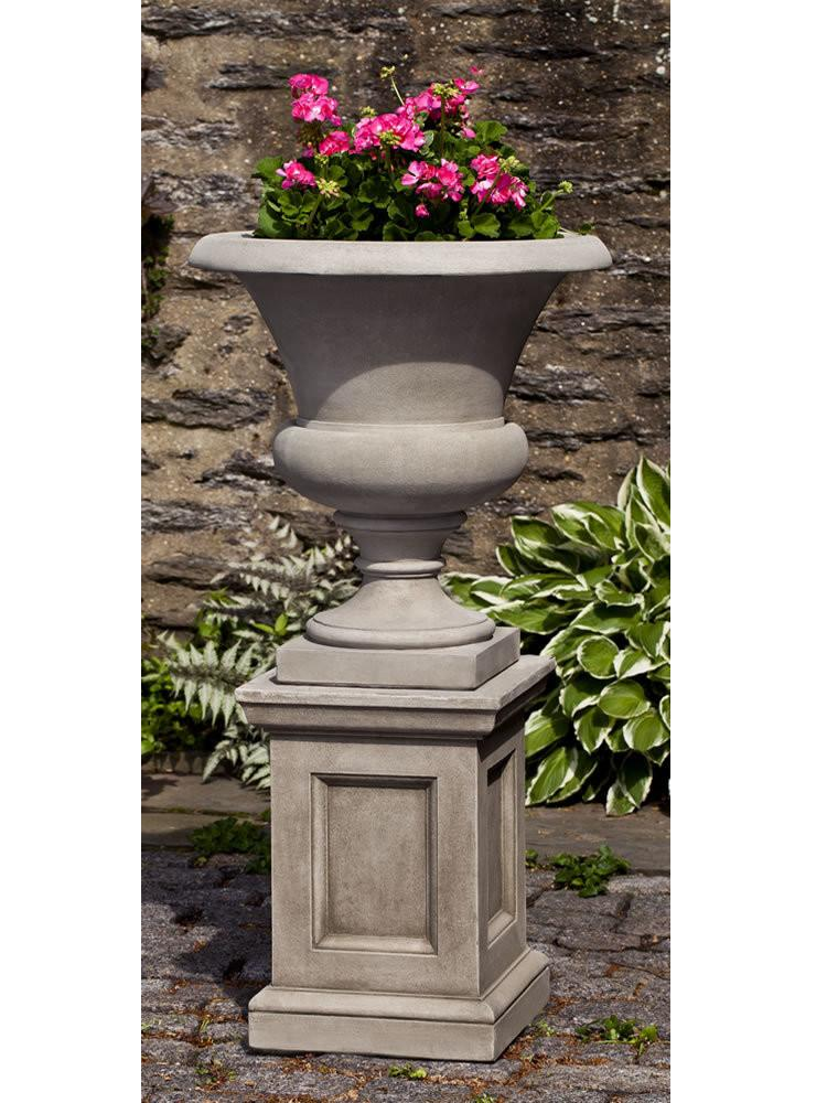 Campania International Cast Stone Wilton Urn with Barnett Pedestal Urn/Planter Campania International