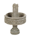Pompeii Column Cast Stone Outdoor Garden Fountains Fountain Tuscan