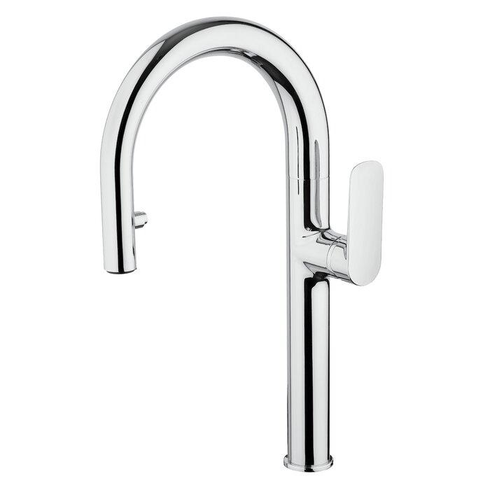 Single handle pull-down spray kitchen faucet Kitchen Faucet lastoscana Silver