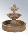 Regina Two Tier Pond Cast Stone Outdoor Garden Fountains Fountain Tuscan