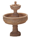 Rosa Two Tier Cast Stone Outdoor Garden Fountains Fountain Tuscan