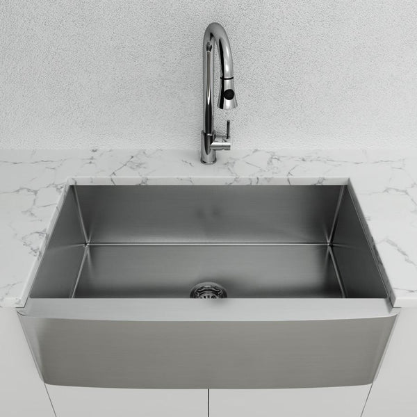 "Cantrio Stainless Steel 33"" Apron front sink"